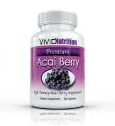 Vivid Nutrition Premium Acai Berry - High Potency, Pure Acai Berries Supplement. All-Natural Diet, Weight Loss, Colon Cleanse. 515mg per capsule - 30 Capsules