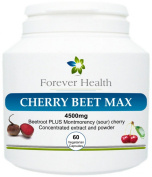 Cherry Beet Max - * NEW FORMULA * Super Strong BEETROOT and MONTMORENCY CHERRY Supplement ! These SUPERFOOD Tablets are a POWERFUL HERBAL COMBINATION to Protect The LIVER from Disease lower Cholesterol and Give Relief From Arthritis and Joint Pain - FR ..