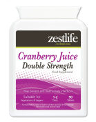 Zestlife Cranberry Tablets Double Strength 4500mg - 90 tablets . May prevent and treat urinary infections. Manufactured in UK