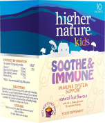 Soothe and Immune with manuka honey and black elderberry extract - 10 Sachets - Higher Nature
