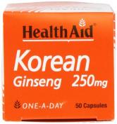 HealthAid Korean Ginseng 250mg - 50 Capsules
