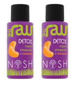Nosh Detox - 'Raw Detox' 2 x 50ml Organic Fresh Wheatgrass Juice with Mandarin
