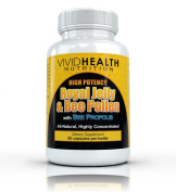 Vivid Health Nutrition Royal Jelly & Bee Pollen with Bee Propolis - High Potency, Highly Concentrated Formula - 30 capsules
