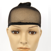 Black Wig Stocking Cap Cool Open Mesh Streach Net Wig Liner.