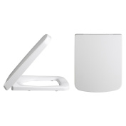 Trueshopping Bathroom Square Standard White Quality Toilet Seat For Use With Esq Toilets
