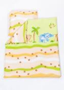 2 Piece Duvet Pillow Set For Crib, Cradle, Pram, Filling Baby Bedding Set - SAFARI LIME GREEN