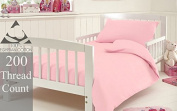 Homefurnishing 200 Thread Cot Bed Duvet Baby Quilt Cover With Pillow Case - 100% Egyptian Cotton