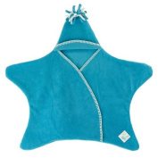 Tuppence and Crumble Star Baby Wrap Turquoise Small