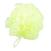 FOREVER YUNG Household Nylon Bath Lather Scrubber Shower Pouffe Body Cleaner Yellowgreen
