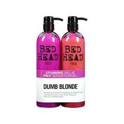 Dumb Blonde by TIGI Bed Head Hair Care Dumb Blonde Tween Set - Shampoo 750ml & Reconstructor 750ml 750ml by TIGI Bed Head Hair Care