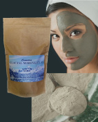 Glacial Detox Healing Clay Powder - 0.9kg. Purest Multi-Prupose Clay for Facial Mud Mask, Body Wrap, Cosmetic Clay, Mineral Bath, Hair Mask, Shampoo, Toothpaste; The Choice For Oily Skin, Acne and Large or Clogged Pores and For Deep Clean, Glowing Skin ..