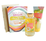 Love & Sunshine Bath & Body Works Gift Bundle with Greeting Card Includes 3 Items