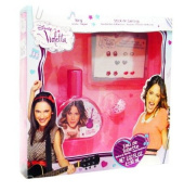 Disney Violetta Gift Set with Eau De Toilette Spray 30ml, Ring, and Stick-on Earrings for Girls