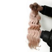 Myfashionhair 41cm +46cm +50cm Brazilian Human Virgin Hair 300g For Full Head Body Wave 27# Strawberry Blonde 6A Top Quality