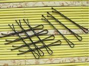 Great Deal(TM) 56 Pcs Black Hair Clips Flat Top Bobby Pins Grips Salon Barrette