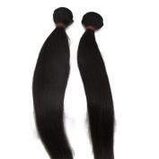 LaNova Beauty Wholesale Brazilian Hair,Mix Size:2pcs 10+30cm ,Sliky Striaght,Natural Colour,2pcs/lot,100g/pc,Cheap Virgin Brazilian Hair