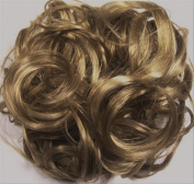 KATIE 18cm Pony Fastener Hair Scrunchie by Mona Lisa 24-14 Blonde-Brown