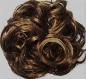 KATIE 18cm Pony Fastener Hair Scrunchie by Mona Lisa 12-Light Golden Brown