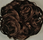 KATIE 18cm Pony Fastener Hair Scrunchie by Mona Lisa 6-Dark Chestnut Brown