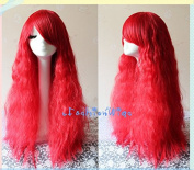70cm Long Curly Red POP Style Cosplay Lolita Wigs, Costume Anime Wig for Party UF069