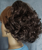 DAWN Clip On Hairpiece by Mona Lisa 34 Dark Brown with 10% Grey
