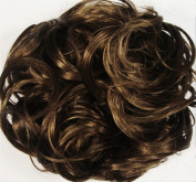 KATIE 18cm Pony Fastener Hair Scrunchie by Mona Lisa 10-Medium Brown