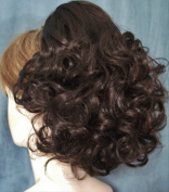 DAWN Clip On Hairpiece Wig by Mona Lisa 6-Dark Chestnut Brown