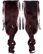 """S-noilite18""""22"""" Curly Wavy Straight One Piece Clip in Ponytail Hair Extensions Any Colour Clip Ins Pony Tail Hairpiece for Women Lady Girl"""