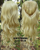Simpleyourstyle 9colors 3/4 Half Hair Extensions,epacket Ship 10-15 Business Days to Us Body Wave Wigs ,Synthetic Hair Extensions,wig Stand Gift Heat Resistant Brown Blonde Clip in Hair Extensions U Pick 200g (1b Natural Black)