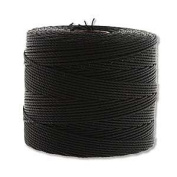 Superlon Black Fine Bead Cord