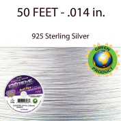 Extreme Flex - 19 Strands - 925 Sterling Silver - Beading Wire - Soft Flex - .36cm .Fine- 15m