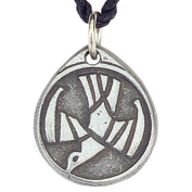 Pewter Circle Spirit Pendant