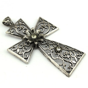 PendantScarf 6 Pieces/lot Antique Silver Zinc Alloy Jewellery Scarf Cross Pendant