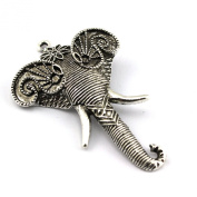 PendantScarf Zinc Alloy Metal Elephant Jewellery Scarf Necklace Pendant Accessories