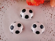 10pcs/lot Football Resin for Bows, Flat Back Resin Cabochons for Hair Bows Cellphone Cases Crafts Decorations and Scrapbooking