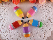 10pcs/lot 2014 Pencil Resin for Bows, Flat Back Resin Cabochons for Hair Bows Cellphone Cases Crafts Decorations and Scrapbooking