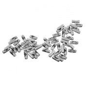 Valyria 100pcs Silver Tone Ball Bead Chain Connector Clasp Fit 5.5mm - 5.8mm Chain