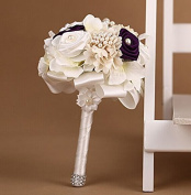 Advanced Customization High Quality Romantic Handmade Bride Holding Flower, Western Style Wedding Bouquet