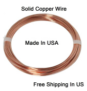 12 Ga Solid Copper Round Wire 1.2m Coil
