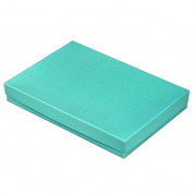 25 Tiffany Blue Cotton Charm Jewellery Box Gift Display Case 14cm x 9.8cm x 2.5cm