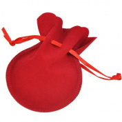 Topro Double Sided Oval Velvet Jewellery Gift Pouch Drawstring Gift Pack of 50pcs Colour