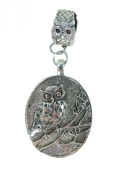 owl scarf pendant bail slide set. Jewellery finding accessories for DIY jewellery scarf necklace.