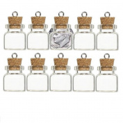 GLASS BOTTLE VIAL CORK size choice AMULET CHARM WICCA POTION MEMORY STORAGE 10pk (20x18mm