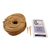 Fibre Rush Seating Kit with Full Colour Instructions, 90m Coil of 6/32 Fibre Rush Kraft Brown, Plus a Peg and a Wedge (6/32