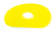 Sherrill Mudtools Shape 0 Polymer Rib for Pottery and Clay Artists, Yellow Colour Soft