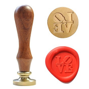 UNIQOOO Love Vintage Wax Sealing Stamp Arts Crafts Wine Wedding Invitation Letter