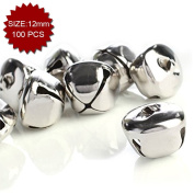 Aspire Cross Silver-plated Decorative bells, 12mm, 100pcs