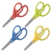 Scissors, 13cm , Blunt Tip, Easy Grip Handle, 12/PK AST, Sold as 1 Package