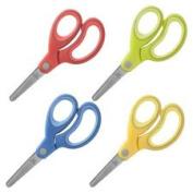 Scissors, 13cm , Blunt Tip, Easy Grip Handle, 12/PK AST, Sold as 1 Package