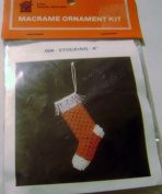 The Knot House Macrame Stocking Ornament Kit 10cm